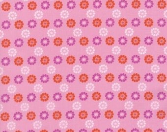 Cotton + Steel Mustang 0007 01 Red Purple Floral On Pink By Melody Miller
