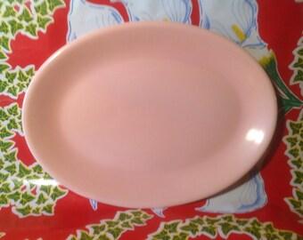 Vintage Vernonware Casual California pink platter-USA