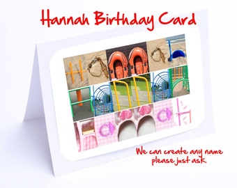 Hannah Personalised Birthday Card