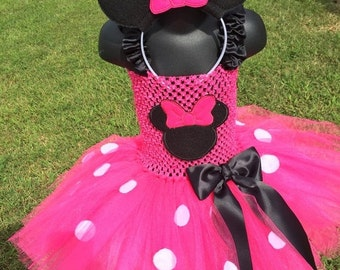 Back2school Minnie Mouse inspired tutu/ birthday/costume/dress/Halloween/dress up