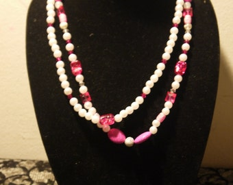 Pink beads with pearls
