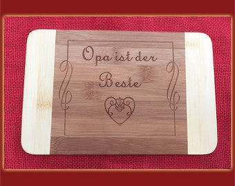 Grandpa is the best breakfast Board with engraving