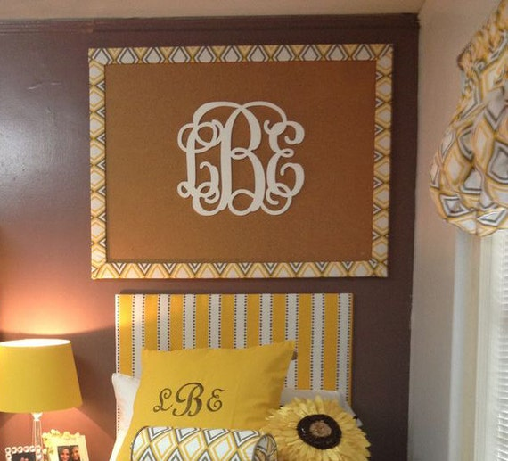 Dorm Room Wall Decor Etsy : Dorm room decor wooden monogram wall hanging