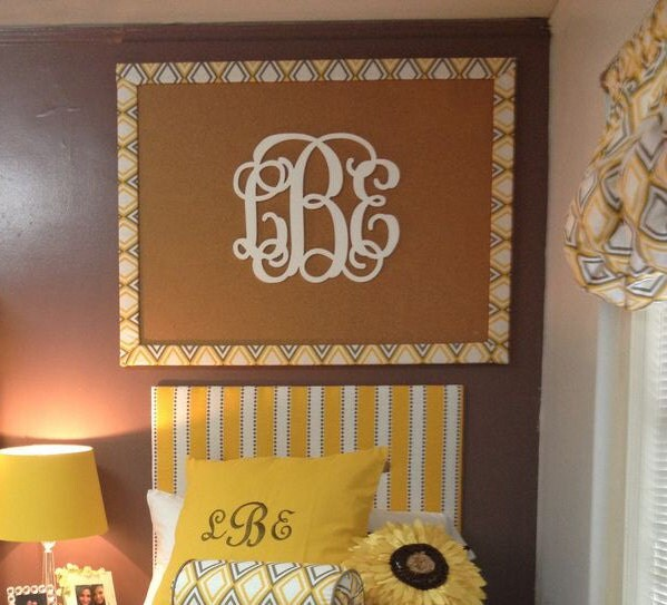 Dorm Room Decor  Wooden Monogram Wall Hanging  Dorm Room ~ 170956_Etsy Dorm Room Ideas