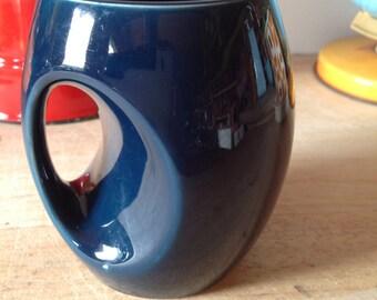 1970s Holkham Studio Pottery Owl Eye Mug - Teal Mug