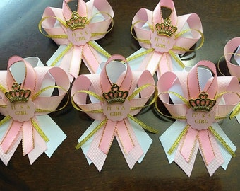 12 Pink And Gold Guest Pins For Baby Shower  Pink And Gold Baby Shower