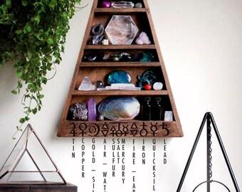 The Mama Alchemy Shelf Triangle Shelf for Crystal Display