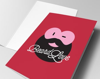 Beard Love Valentines Card