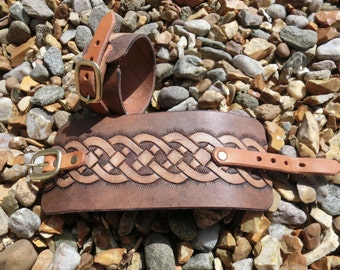 celtic style leather cuff