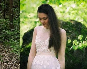 Ivory wedding dress, lace dress