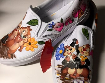 Chip N Dale Painted Canvas Shoes