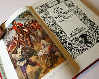 The Life Of Wellington illustrated Vintage Book Hardback vintage biography