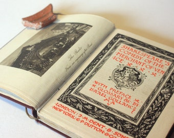 Merchant of Venice William Shakespeare 1919s Vintage pocket book English Literature Classic books