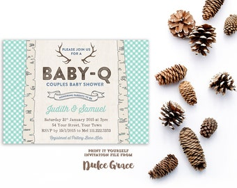 boy baby shower invitations, aqua sky blue baby shower invites, bbq baby shower invites, bbq baby shower party, printable baby shower file