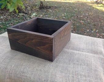 "12"" x 12"" Rustic Flower Box, Wedding Centerpiece, Wood Box"