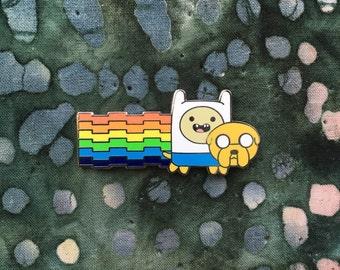 Adventure Time Rainbow Nyan Cat Hat Pin