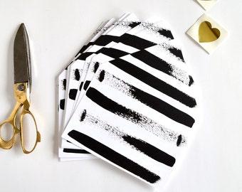 A7 envelope liner, striped envelope liner, black and white envelope liner, black and white invitation, black and white stripe invitation