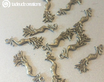 Bronze Alloy Phoenix Charms (pack of 10)
