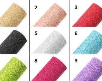 """Sparkling Glitter Felt You Choose Color 7.9"""" × 11.4"""""""