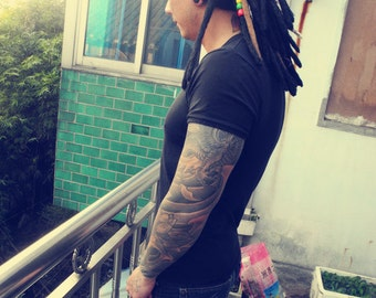 handmade dreadlock cap dread cap 40 single ended dreadlocks 30cm length
