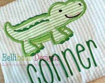 Alligator Applique Design - Crocodile Applique Design - Boy Applique Design - Summer Applique Design - Animal Applique Design