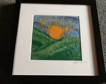 The Sunrise - Needle felted picture