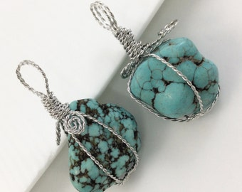 3 pcs Turquoise pendants , Turquoise Jewelry ,Craft Supplies &Tools, Findings