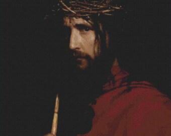 Christ with Thorns PDF Cross Stitch Pattern