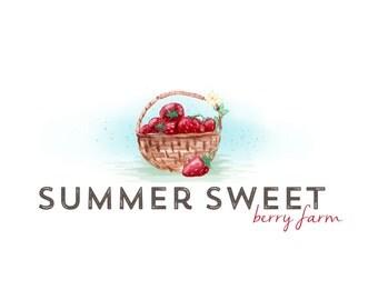 Logo Design Branding, Photography Logo, Small Business Logo, Custom Logo, Logo Design Package, Affordable Logo, Berry Logo, Logo Branding
