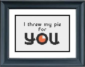 I Threw My Pie For You - Orange is the New Black - PDF Cross-Stitch Pattern - Netflix