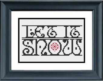 Let It Snow - Christmas Cross Stitch Pattern - PDF Cross-Stitch Pattern - Snowflake