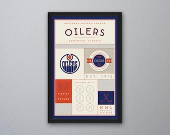 Edmonton Oilers Stats Print