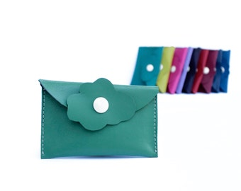 Colorful leather case for business cards; Available in other colours