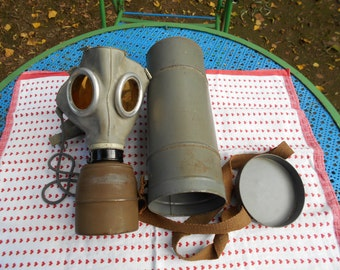 Real mask has gas dating back to the 2nd World War.