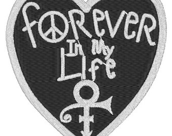 Custom Prince Forever In My Life Heart Embroidered Iron-On Patches
