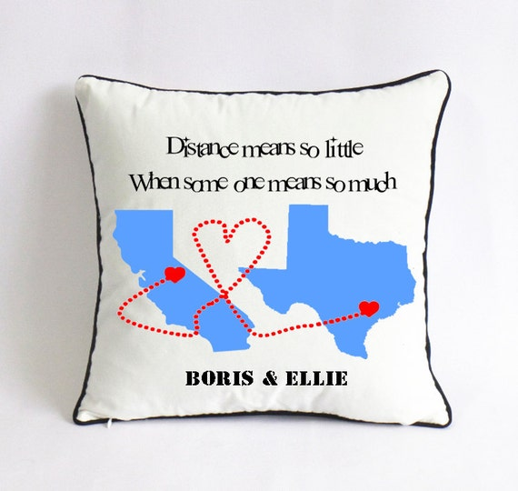 State to state go away gift state throw pillow cover long for Going away gifts for boyfriend