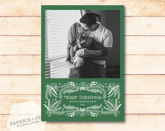 Evergreen // Merry Christmas Photo Card
