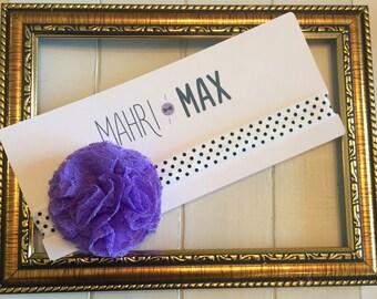 Small Purple Flower Headband