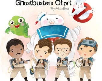 Ghostbusters 1 character clipart PNG file-300 dpi.