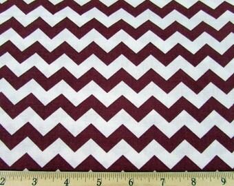 "1/2"" Chevron Burgundy Fabric"