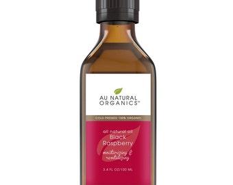 Black Raspberry Seed Oil, Organic Cold Pressed – Natural Moisturizer, Natural Skin Care, Skin Treatment, Natural Hair Care 3.4 oz (100 ml)