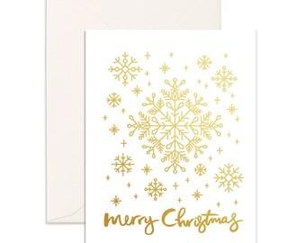 Christmas Snowflakes Greeting Card