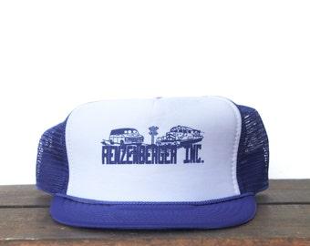 Vintage Renzenberger Inc Van Freight Train Trucker Hat Snapback Baseball Cap
