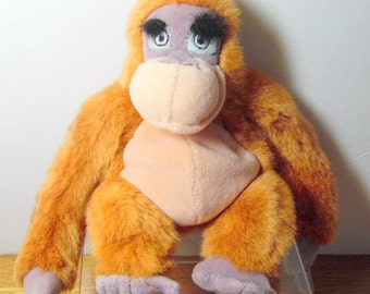 Cute, vintage Disney KING Louie plush doll.  This character comes from the 1967 movie:  Jungle Book
