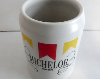 Vintage,  Stoneware MICHELOB beer stein.  It is very heavy, and made by Ceramarte in Brazil