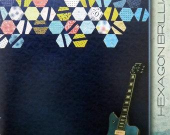 Hexagon Brilliance Quilt Pattern - Zen Chic - Brigitte Heitland - Moda - HBQP - Figures Collection - Beginner