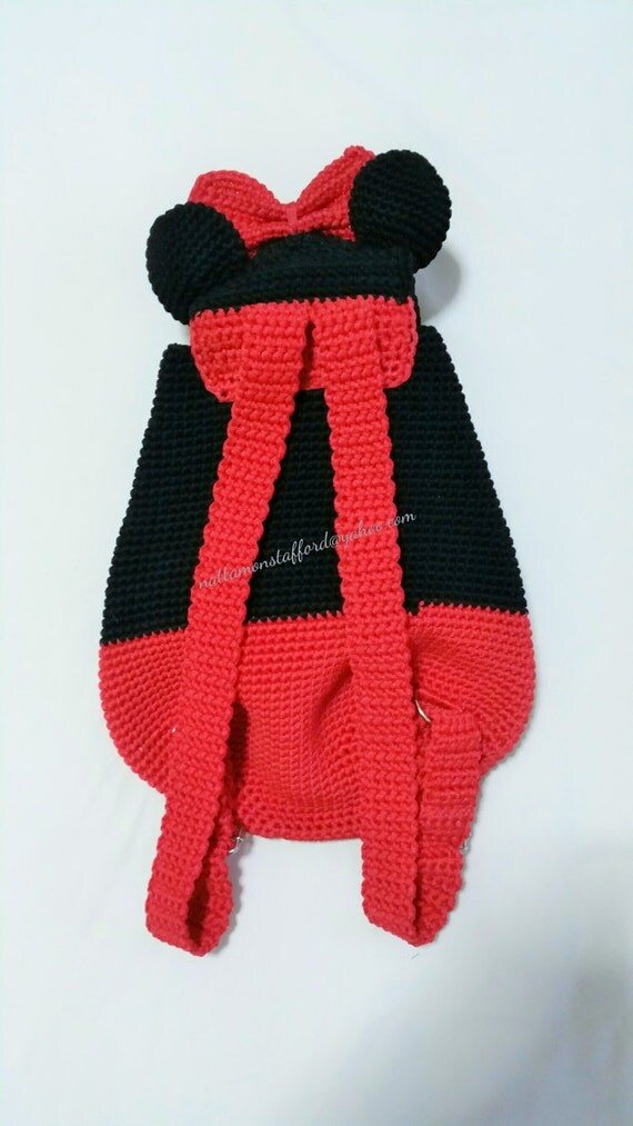 Excelente Patrón Monedero Crochet Minnie Mouse Embellecimiento ...