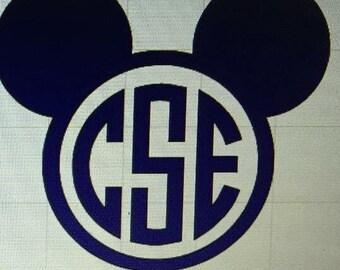 Disney style monogram