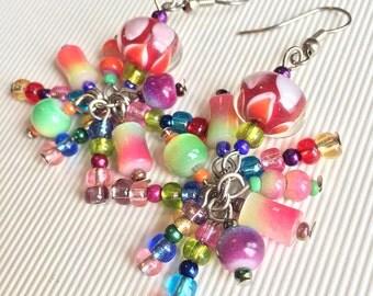 Rainbow Octopus Earrings