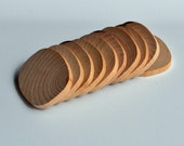 """10, Unfinished Wooden Oval Shapes, 2"""" x 1-9/16"""""""